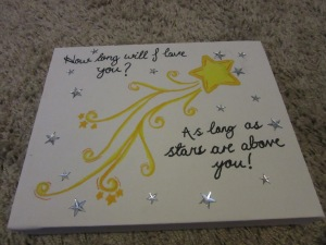 Shooting star canvas